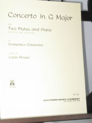 Cimarosa D - Concerto in G Major for 2 Flutes & Piano